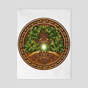 Sacred Celtic Trees - Oak Twin Duvet