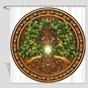 Sacred Celtic Trees - Oak Shower Curtain