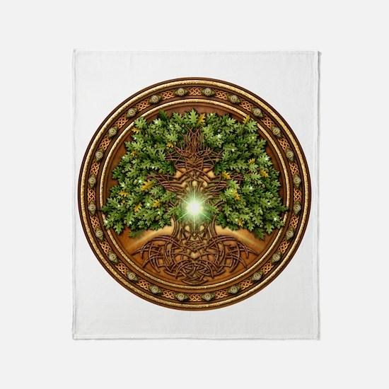 Sacred Celtic Trees - Oak Throw Blanket