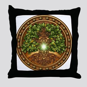 Sacred Celtic Trees - Oak Throw Pillow
