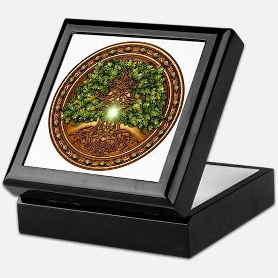 Sacred Celtic Trees - Oak Keepsake Box