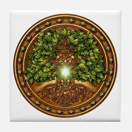 Sacred Celtic Trees - Oak Tile Coaster