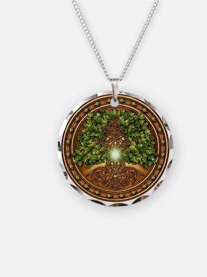 Sacred Celtic Trees - Oak Necklace Circle Charm