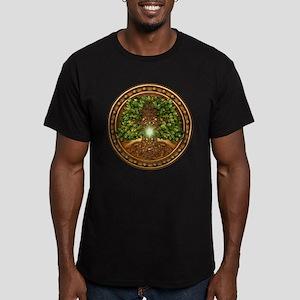 Sacred Celtic Trees - Oak Men's Fitted T-Shirt (da