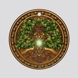 Sacred Celtic Trees - Oak Ornament (Round)