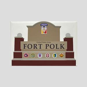 Fort Polk Rectangle Magnet