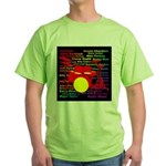 drum and drummer Green T-Shirt