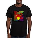 drum and drummer Men's Fitted T-Shirt (dark)