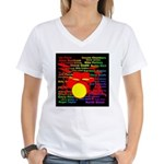 drum and drummer Women's V-Neck T-Shirt