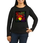 drum and drummer Women's Long Sleeve Dark T-Shirt