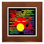 drum and drummer Framed Tile