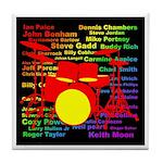 drum and drummer Tile Coaster