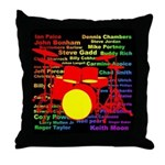 drum and drummer Throw Pillow