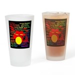 drum and drummer Drinking Glass