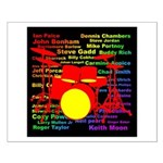 drum and drummer Small Poster