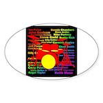 drum and drummer Sticker (Oval)