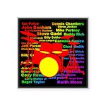 drum and drummer Square Sticker 3