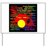 drum and drummer Yard Sign