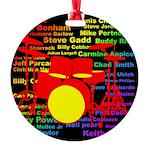 drum and drummer Round Ornament