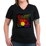 drum and drummer Women's V-Neck Dark T-Shirt