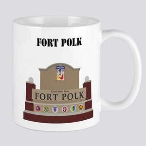 Fort Polk with text Mug