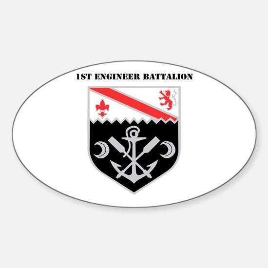 DUI - 1st Engineer Battalion with Text Decal