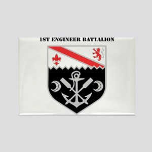 DUI - 1st Engineer Battalion with Text Rectangle M