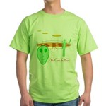 """We come in pizza"" Green T-Shirt"