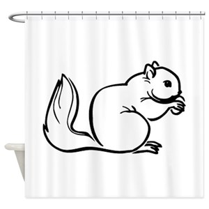 Funny Squirrel Shower Curtains