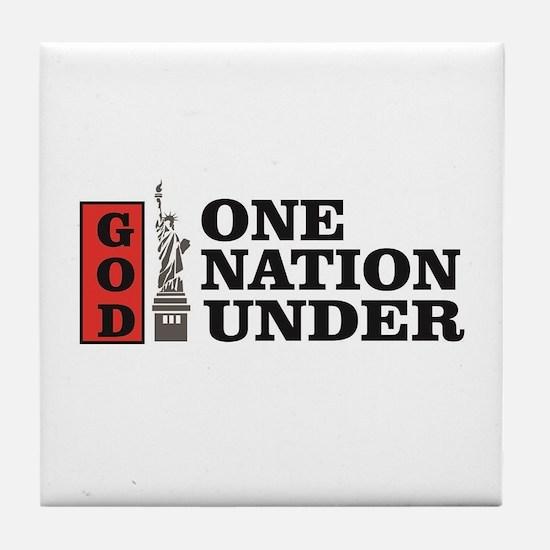 one nation under god liberty Tile Coaster