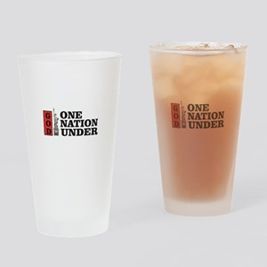 one nation under god liberty Drinking Glass