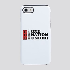 one nation under god liberty iPhone 7 Tough Case