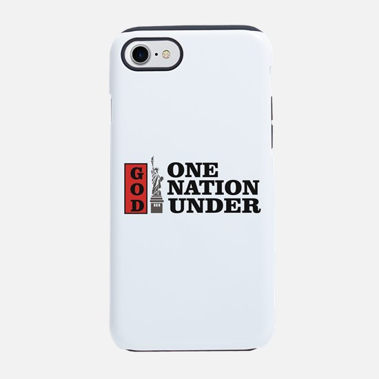 one nation under god liberty iPhone 7 Tough Case
