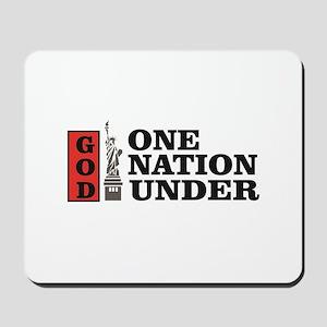 one nation under god liberty Mousepad