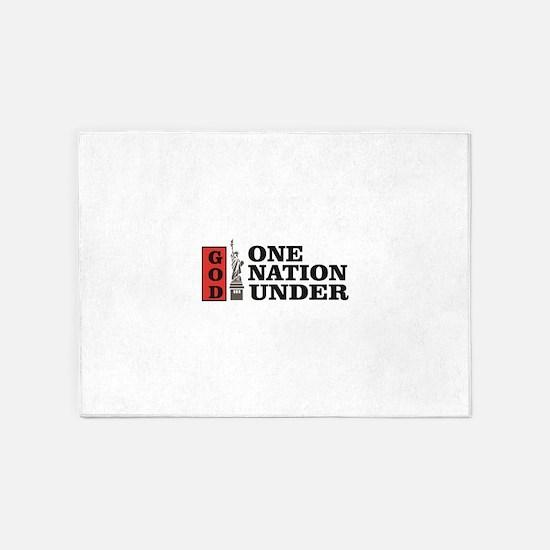 one nation under god liberty 5'x7'Area Rug