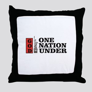 one nation under god liberty Throw Pillow