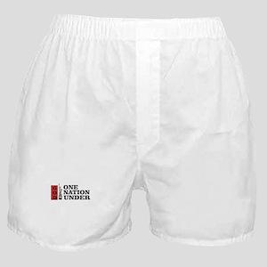 one nation under god liberty Boxer Shorts