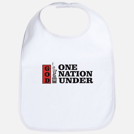 one nation under god liberty Baby Bib