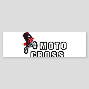 motorcycle jump fire wings Sticker (Bumper)