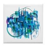Atom Sea #19 Tile Coaster