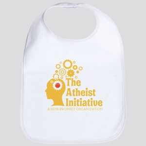 The Atheist Initiative with Red Button Bib