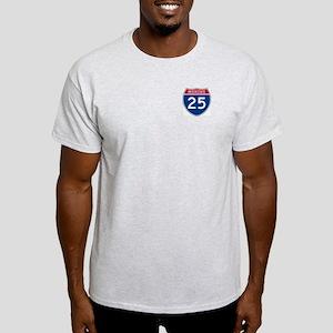 I-25 Highway Ash Grey T-Shirt