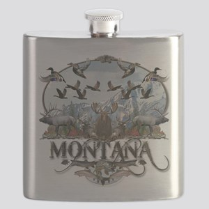 Montana wildlife Flask