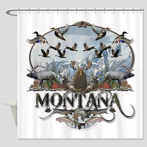 Montana wildlife Shower Curtain