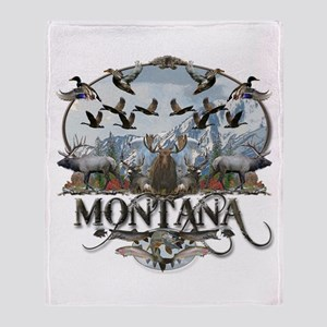 Montana wildlife Throw Blanket