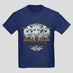 Montana wildlife Kids Dark T-Shirt