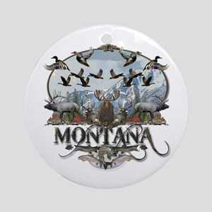 Montana wildlife Ornament (Round)