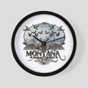 Montana wildlife Wall Clock