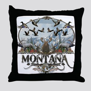 Montana wildlife Throw Pillow