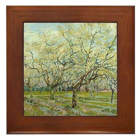 Van Gogh White Orchard Framed Tile